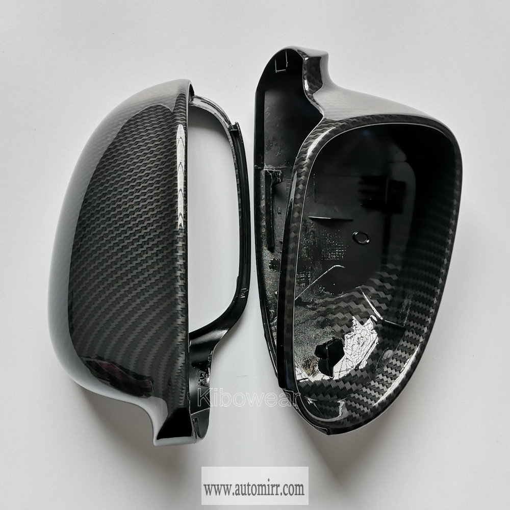 VW Polo 2005-2010 Door Wing Mirror Cover Black Pair Left /& Right